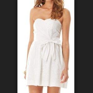 Lilly Pulitzer White Strapless Henrieta Dress